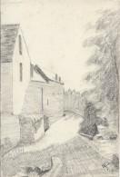 Dessin D´amateur/Crayon /L RACLET/Non Encadré/Mantes La Ville / Les Moulins/1926    GRAV165 - Dessins