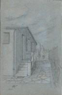 Dessin D´amateur/Crayon /L RACLET/Non Encadré/Sartrouville / Entrée De Villa/1960    GRAV166 - Dessins