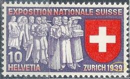 Exposition Nationale Suisse, 10 Rp.mehrfarbig **  (Abart)        1939 - Variétés