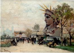 BAR 54 - CARTE D'INVITATION Du Musée Bartholdi Tableau Du Buste De La Statue De La Liberté Par Henri Saintin - Other