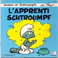 Disque Plaat 45 T - L' Apprenti Schtroumph - Smurfen - Peyo - 1983 - Raconté Par Dorothée - Texte Inclus 12 P. - 45 T - Maxi-Single