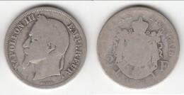 **** 2 FRANCS 1866 K BORDEAUX NAPOLEON III TETE LAUREE - ARGENT **** EN ACHAT IMMEDIAT !!! - France