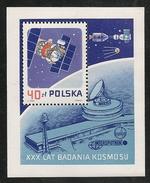 Poland: 1987 30th Anniversary Launch Of Sputnik 1 M/Sheet MNH - 1944-.... République