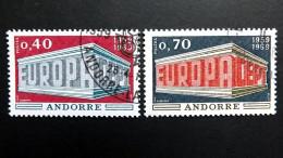 Andorra Franz. 214/5 Oo/uESST EUROPA/CEPT 1969