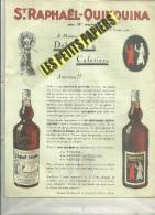 75 - Paris - PARIS - Facture ST-RAPHAËL-QUINQUINA - Apéritif – 1930 - REF 241 - 1900 – 1949