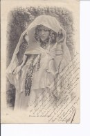 1 Cpa Femme Des Ouled-Nails. Bijoux, Voile - Algerije