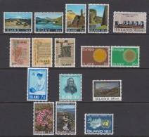 1970 ** Islande (sans Charn., MNH, Postfrish) Complete Yv 387/402  Mi 434/49  FA 471/486  (16v) - Island