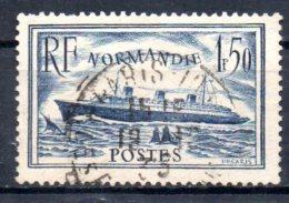 FRANCE    N° 299    Oblitere  Bateaux Paquebot Normandie - Barche