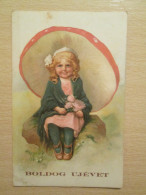 1928 Happy New Year Postcard - New Year