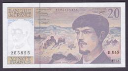 FRANCE : BILLET  20 FRANCS DEBUSSY 1993 - NEUF (2 Scan) 2 - 1962-1997 ''Francs''