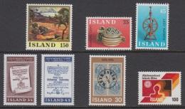 1976 ** Islande (sans Charn., MNH, Postfrish) Complete Yv 466/72  Mi 513/19  FA 550/56 (7v) - Komplette Jahrgänge