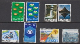 1977 ** Islande (sans Charn., MNH, Postfrish) Complete Yv 473/80  Mi 520/27  FA 557/64 - Island