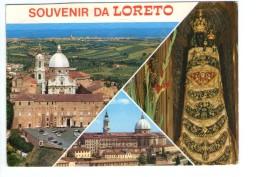 Q3307 Cartolina Di Loreto ( Ancona ) Multipla Con Santuario E Madonna + VIAGGIATA CON FALSA AFFRANCATURA - Altre Città