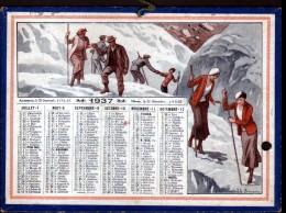 FORMAT 20 X 14,7 Cm, 11937, ILLUSTRATION: JL BEUZON, SCANS RECTO ET VERSO, 1 Perforation - Calendars