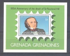 GRENADA GRENADINEN  Michel #  Block 44 **  100 Jahre  Rowland Hill - Grenada (1974-...)
