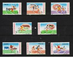 1988 - Championats Internat. De Tenis Mi No 4466/4473 MNH - 1948-.... Republiken