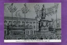 55 BAR LE DUC 29 Septembre 1850 Innauguration Du Monument Oudinot Place De La Municipalité Place Reggio 1857 - Bar Le Duc