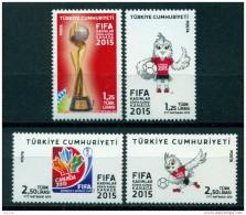 AC - TURKEY STAMP -  FIFA WOMEN'S WORLD CUP CANADA 2015 MNH FOOTBALL SOCCER 06 JUNE 2015 - Nuevos