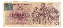 Czechoslovakia 500 Korun 1993 Provisional Issue - Cecoslovacchia
