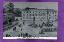 55 BAR LE DUC Le 19 Août 1870 Arrivée Des Hussards De Magdebourg . Bivouac Su La Place Reggio - Bar Le Duc