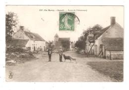 CPA  18 INEUIL Route De Châteauneuf Animation Hommes & Moutons Maisons église 1909 - Otros Municipios
