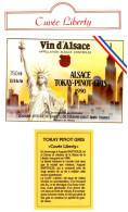 BAR 74 - Belle étiquette à Vin Avec Collecrette Tokay Pinot Gris Cuvée Liberty Domaine Viticole Colmar - Art