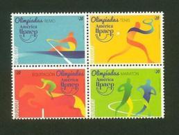 URUGUAY Olympic Brazil 2016 MNH STAMP Horse Rowing Marathon Tennis AMERICA UPAEP - Olympic Games