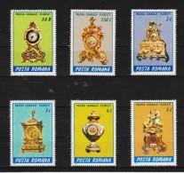 1988 - Pendules Du Musee De Ploiesti Mi 4443/4448 Et Yv 3798/3803 MNH - 1948-.... Republiken