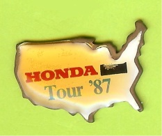 Pin Automobile Honda Tour '87 États-Unis (Abimé) - 6N01 - Honda