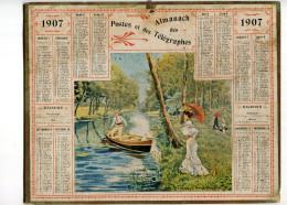 Calendrier Postes Et Télégraphies 1907 - Grand Format : 1901-20