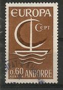ANDORRE/ANDORRA.  EUROPA 1966, Un Timbre Oblitéré. 1 ère Qualité