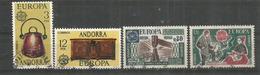 ANDORRE/ANDORRA.  EUROPA 1976, Artisanat, Deux Timbres Oblitérés. 1 ère Qualité - Andorre Français