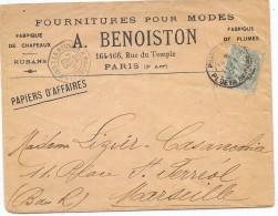 CTN35/1 - LA REUNION A MARSEILLE LIGNE N°3 24/2/1903 A ETUDIER - Marcophilie (Lettres)