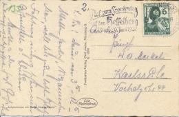 "Germany 1937 Picture Postcard From Nürnberg With Propaganda Machine Cancellation ""Auf Zum Frankentag"" On 6 Pf Air League - Brieven En Documenten"