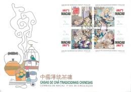 CHINE - MACAU - SERIE De 4 TIMBRES SUR FRAGMENT DE LETTRE - 1996 - Série N° 814 à 817 - 1999-... Région Administrative Chinoise