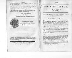 Bulletin Des Lois N° 425 - 23 Mars 1812 - Création Du Dépôt De Mendicité Du Département Du Nord - - Décrets & Lois