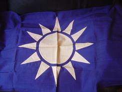 TRES ANCIEN DRAPEAU CHINOIS NATIONALISTE - Vlaggen