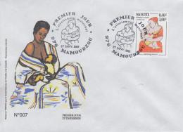 Enveloppe  FDC   1er Jour    MAYOTTE      L'  Allaitement  Maternel      MAMOUDZOU    2001