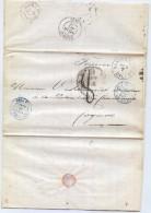 CTN35/1 - LACSAN FRANCISCO / COGNAQ 7/10/1869 - Poststempel (Briefe)