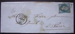 1859 Lettre  De Cambrai Pour Un Pharmacien De Paris (voir Photo Pour Le Détail) - Marcophilie (Lettres)