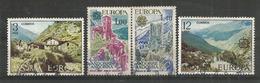 ANDORRE/ANDORRA.  EUROPA 1977, Paysages De La Principauté, Deux Timbres Oblitérés. 1 ère Qualité