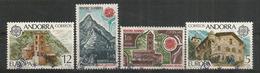 ANDORRE/ANDORRA.  EUROPA 1978, Maison De Charlemagne Et Monuments, Deux Timbres Oblitérés. 1 ère Qualité