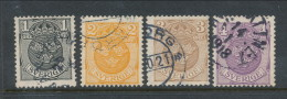 Sweden  1911-1919, Facit # 71-74. Small National Coat-of-Arms, Wm Wavy Lines . USED - Schweden