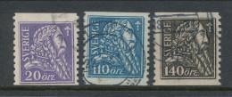 Sweden 1921. Facit 153-155. Gustaf Vasa. USED - Usados