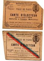 Carte D'electeur Paris 20 - Cartes
