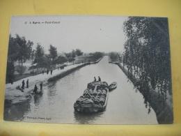 47 7384 - 47 AGEN - PONT CANAL - ANIMATION PENICHE TRANSPORTANT BARRIQUES DE VIN - Agen