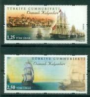 AC - TURKEY STAMP - OTTOMAN GALIONS SHIPS MNH 10 SEPTEMBER 2014 - Nuevos