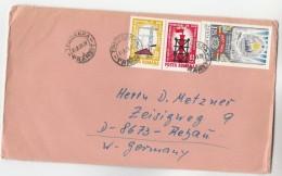 1973 Timisora ROMANIA COVER Stamps REPUBLIC Anniv ANTI FASCISM To Germany - 1948-.... Republics