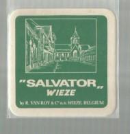 """-**WIEZE   **-   """""""" Brouwerij Van Roy +Salvator  """"""""  - .--2x Bierviltje. - Sous-bocks"""