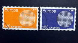 Andorra Franz. 222/3 Oo/used, EUROPA/CEPT 1970